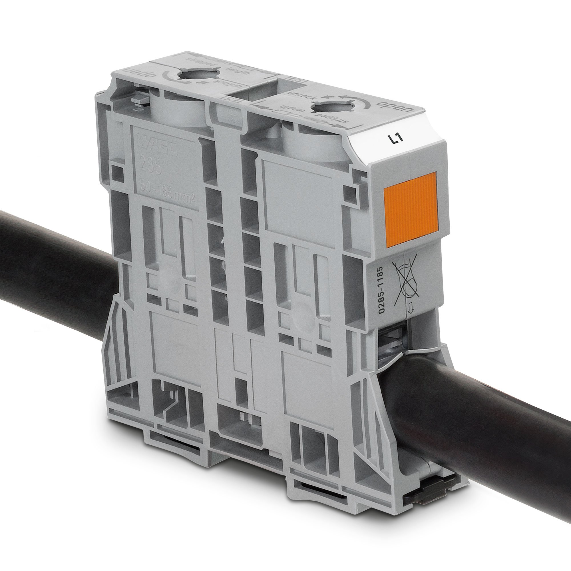 Wago Terminal Blocks Block Wiring Board Busbar High Current Rail Mount With Power Cage Clamp
