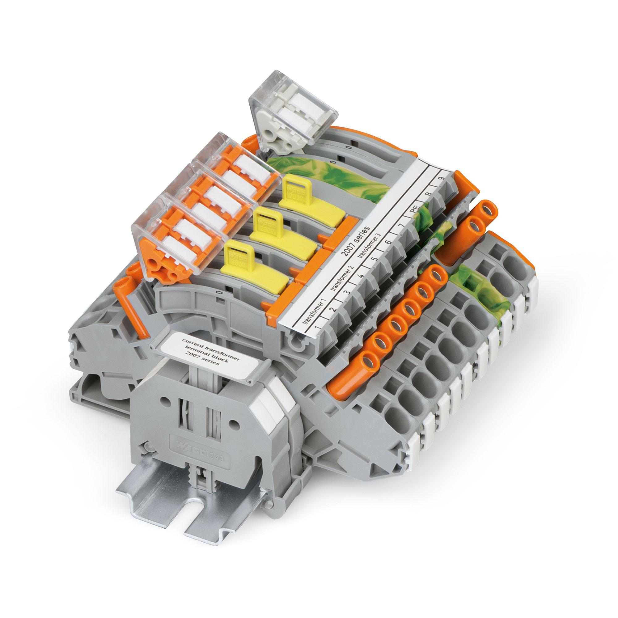 Wago Topjob S Rail Mount Terminal Blocks Fuse Box Single Push Current And Voltage Transformer