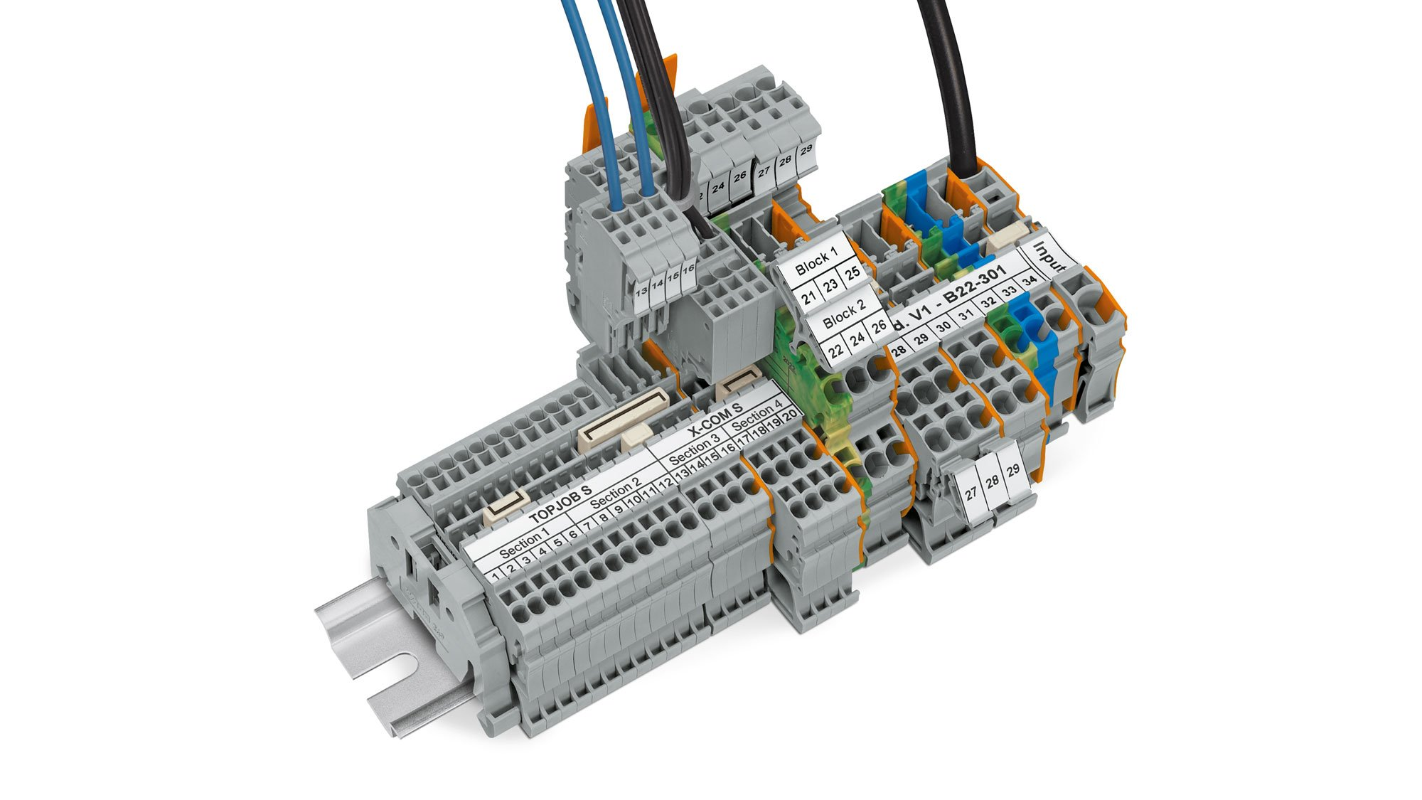 Wago Pluggable Rail Mount Terminal Blocks For Time Saving Marine Block Wiring All Products