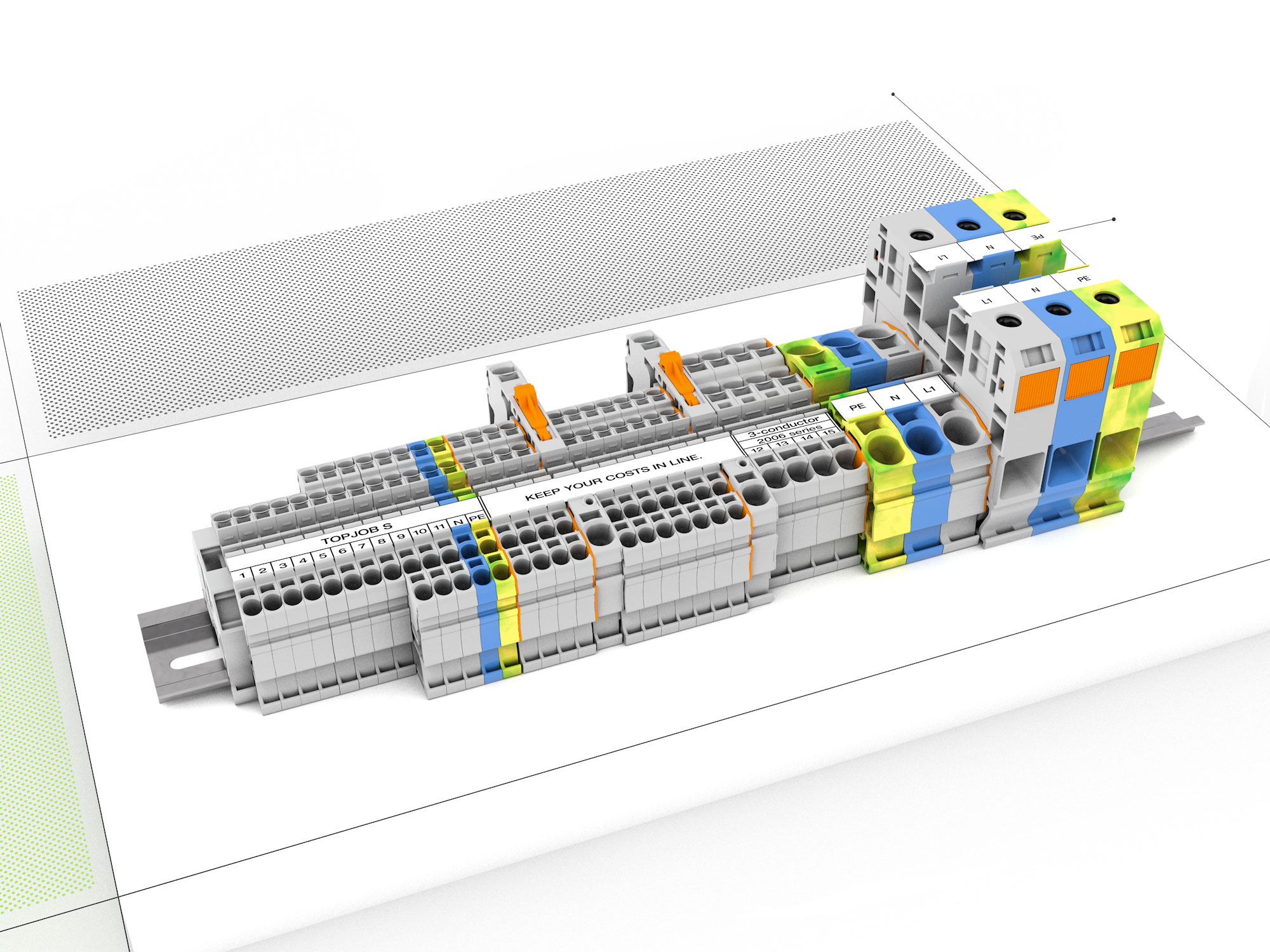 Wago Wire Splicing Connectors The Way To Connect How Cross 66 Block Rail Mount Terminal Systems
