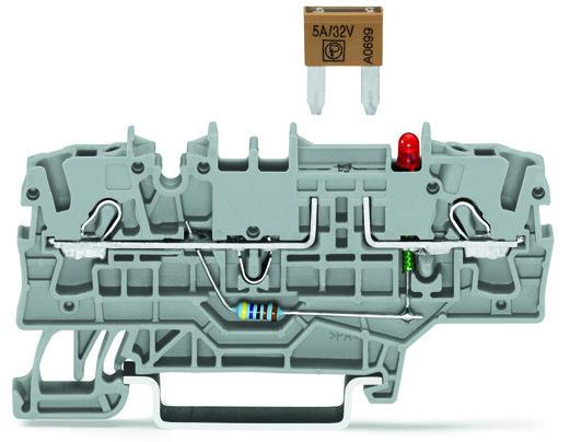 9391698051102 wago 2 conductor fuse terminal block for mini automotive blade