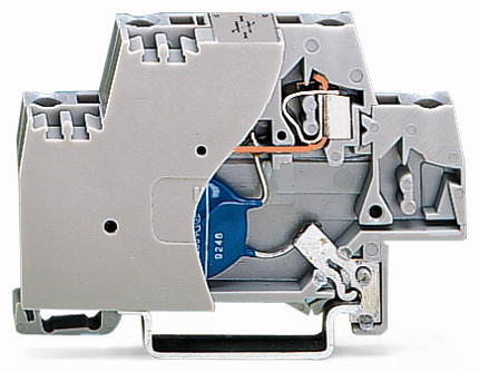 Terminal block with varistor and end plate; with direct connection to DIN rail; 24 VDC