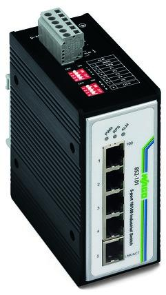 Industrial unmanaged switch; 5-port 100Base-TX