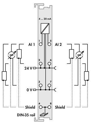 WAGO | 2-channel analog input (750-466)