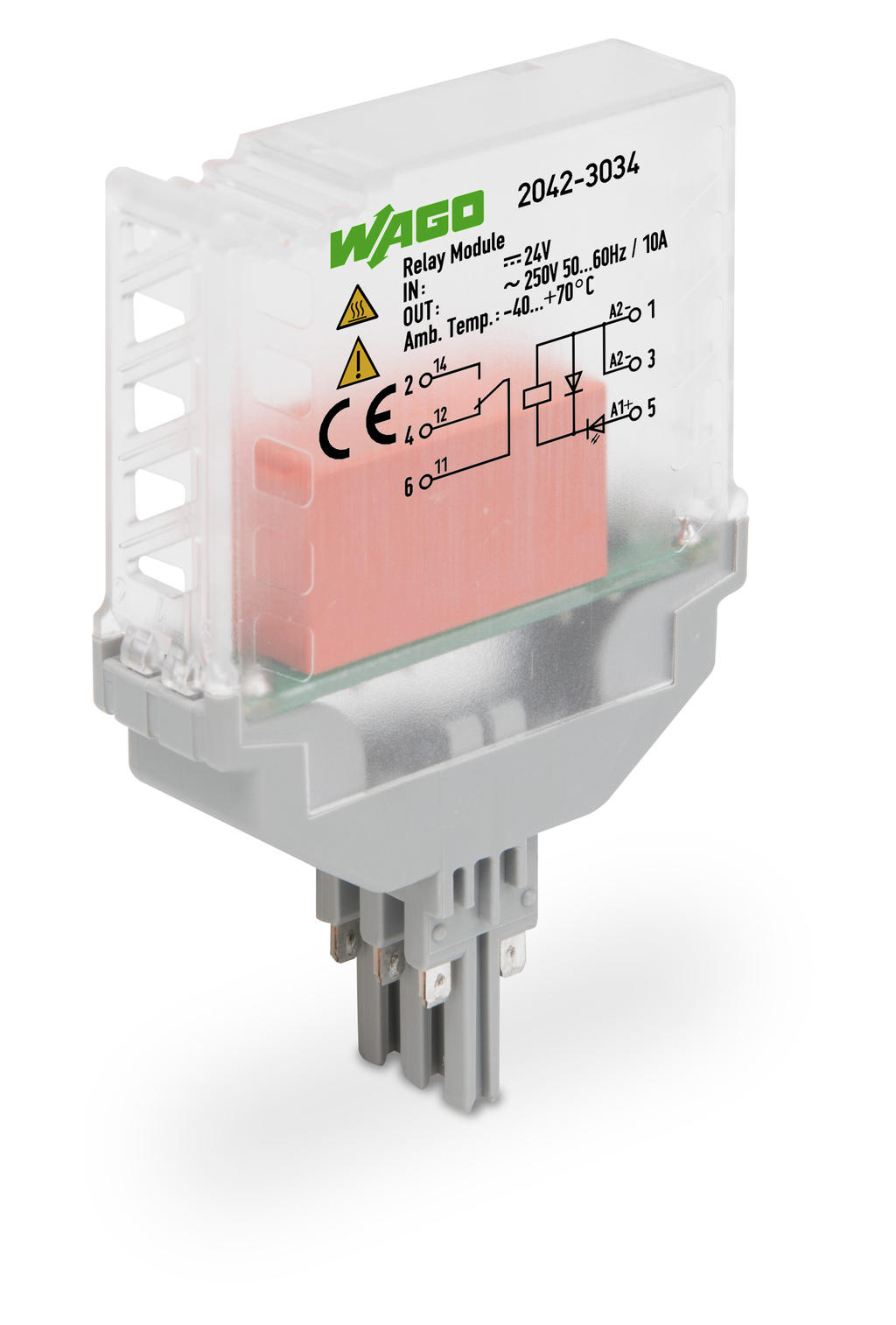 Wago Solid State Relay 2042 7604 Module Input 24 V Dc Output 5 A 3 Conductor Connection Height 15 Mm For Railway Operations