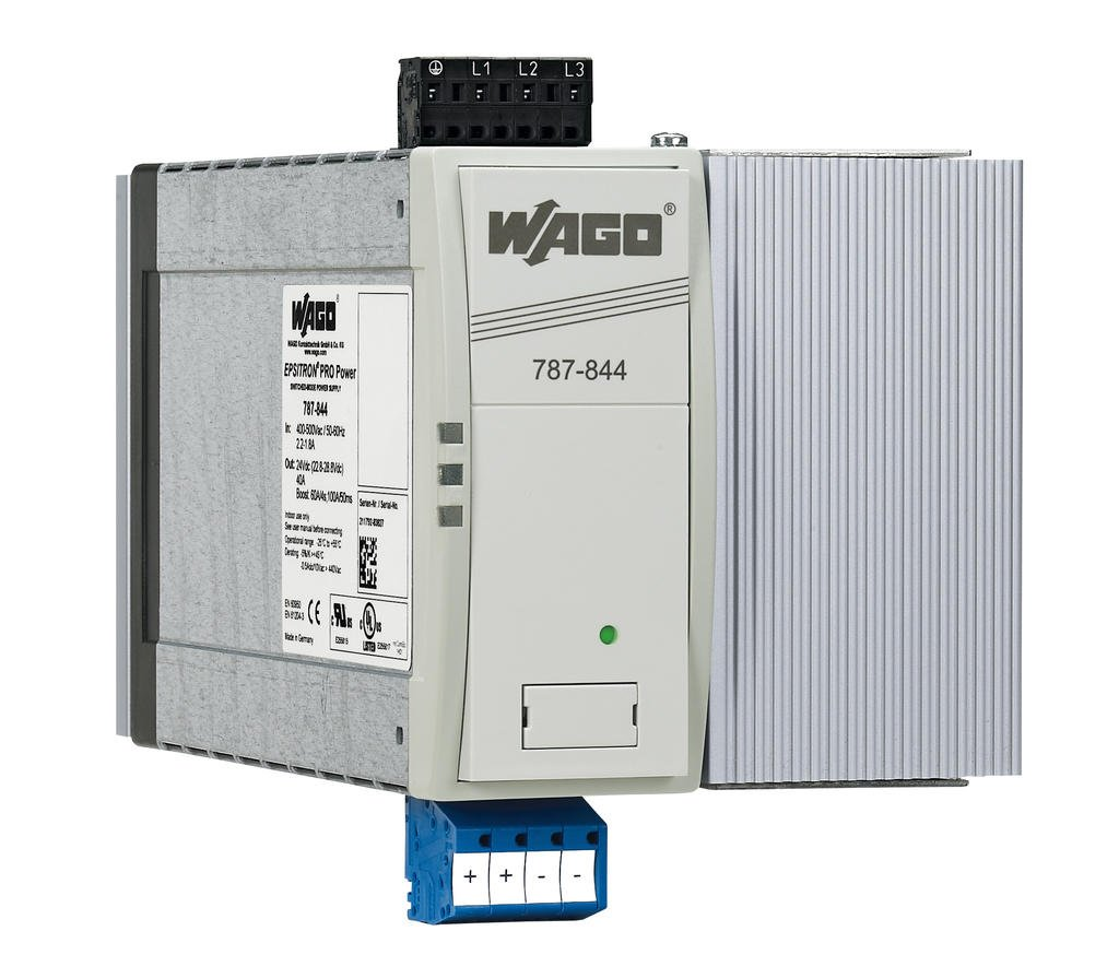 Wago Epsitron Pro Power Supply 787 844 Examine This Threephase Motor Control Circuit Where Fuses Protect Three Phase Output Voltage 24 Vdc 40 A Powerboost
