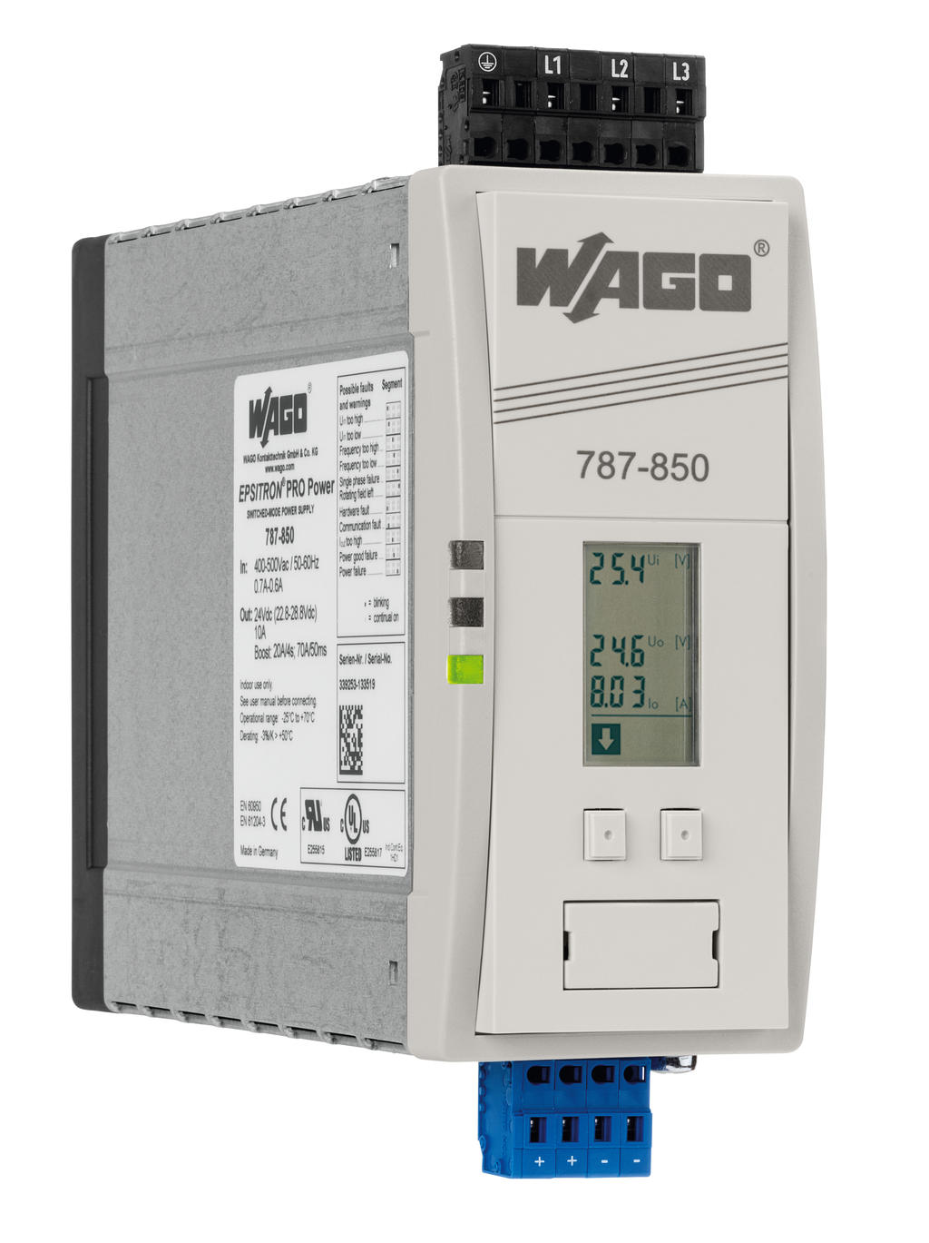 Wago Switched Mode Power Supply 787 850 Current Sensing Relay Nz Epsitron Pro 3 Phase 24 Vdc Output Voltage 10 A Topboost Powerboost Linemonitor Dc Ok Signal
