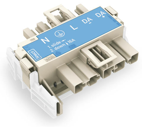 Linect® T-connector; 5-pole; Cod. I; 1 input; 2 outputs