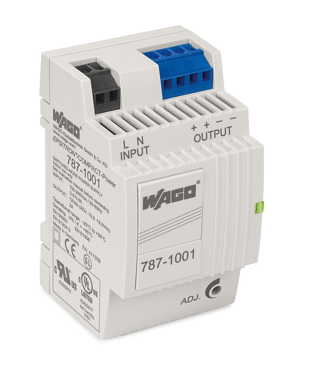 Wago Epsitron Compact Power Supply 787 1001 Vdc For 2 A Circuit Single Phase Output Voltage 12