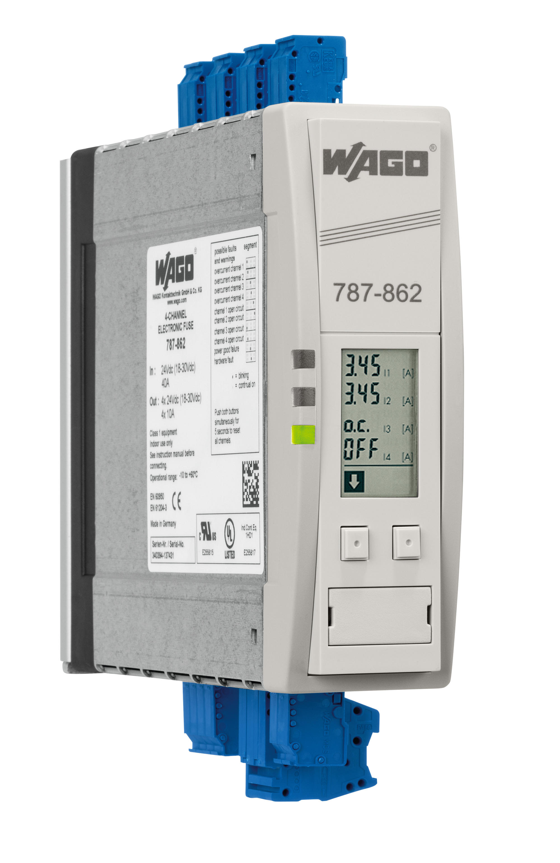 Wago Single Channel Electronic Circuit Breakers Ecbs Off Miniature Breaker Module View 4 24 Vdc Input Voltage Adjustable 1