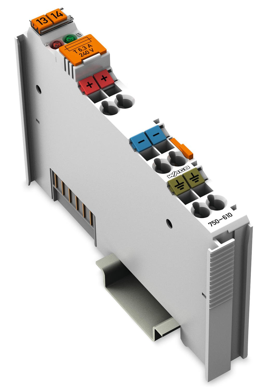 Wago Power Supply 750 610 Electrical Fuses Holders Circuit Breakers Din Rail Mounted 24 Vdc Fuse Holder Diagnostics