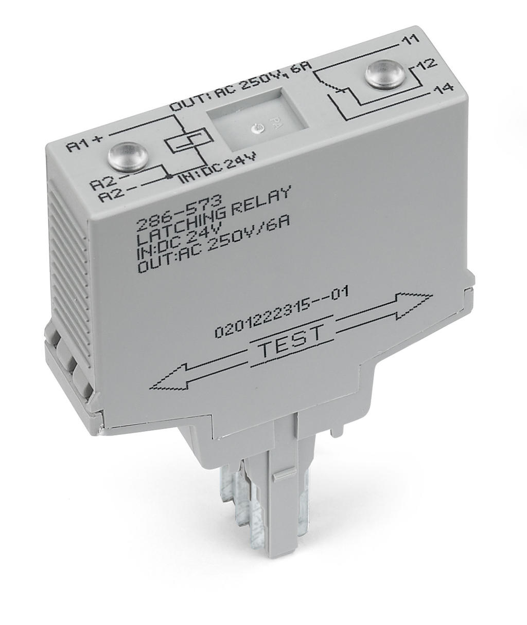 Wago Latching Relay Module 286 573 Switches The Load Current And A Circuit That Controls Nominal Input Voltage 24 Vdc 1 Changeover Contact Limiting Continuous 6 Red Status Indicator Width 17 Mm