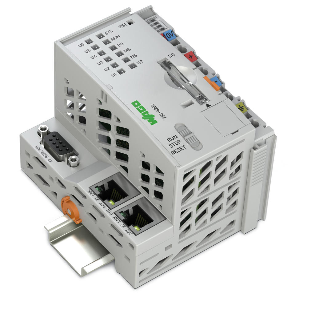 Wago Controller Pfc200 750 8202 Note The Dmx Power Over Cat5 System Is Not To Be Confused With 2 X Ethernet Rs 232 485