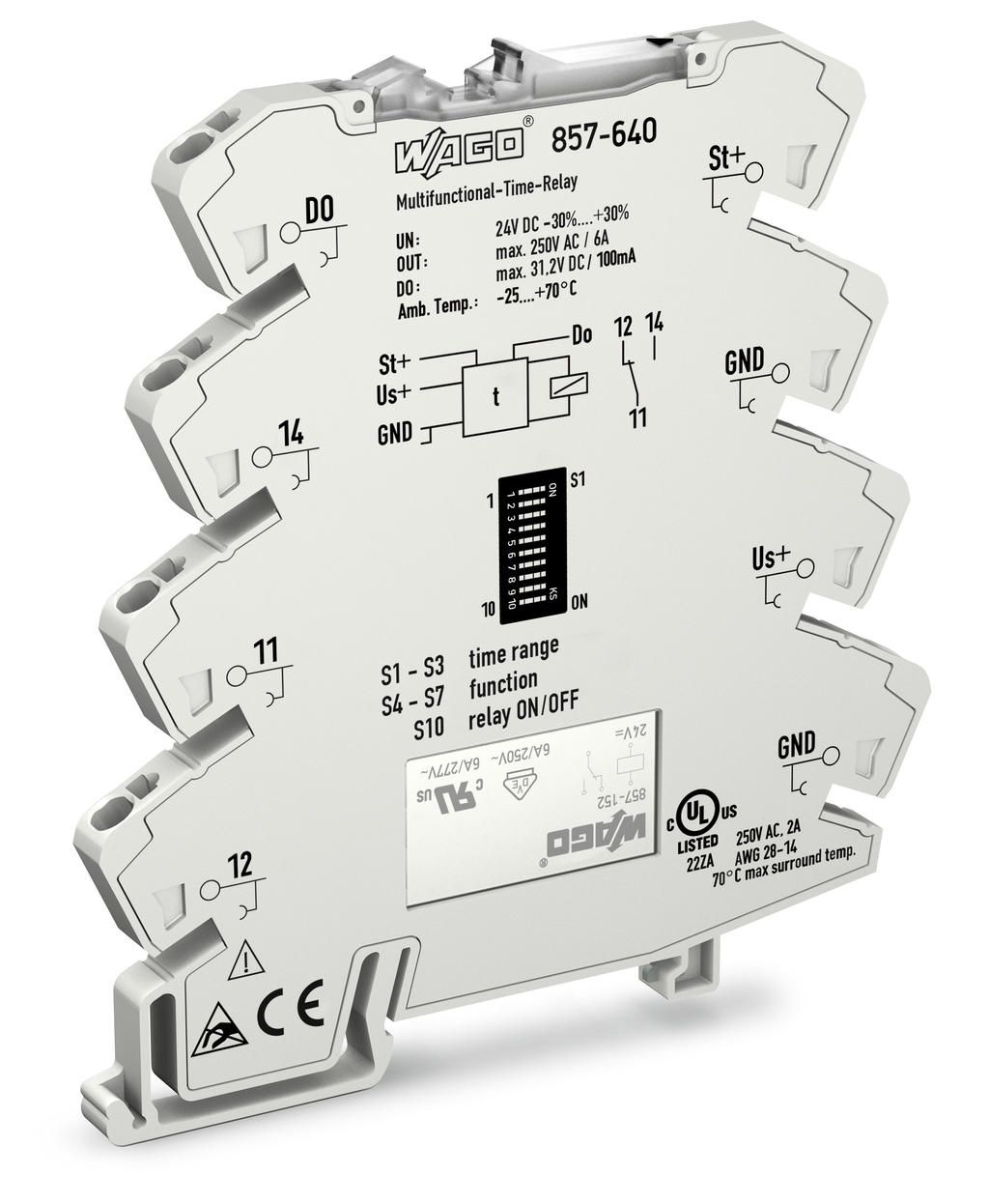 Wago Multifunction Timing Relay With 1 Changeover Contact 1u Through An Optocoupler Circuit Electronic Projects 8 Tiem Ranges 14 Functions Temperature Range 25 C 70 For Railway Operations