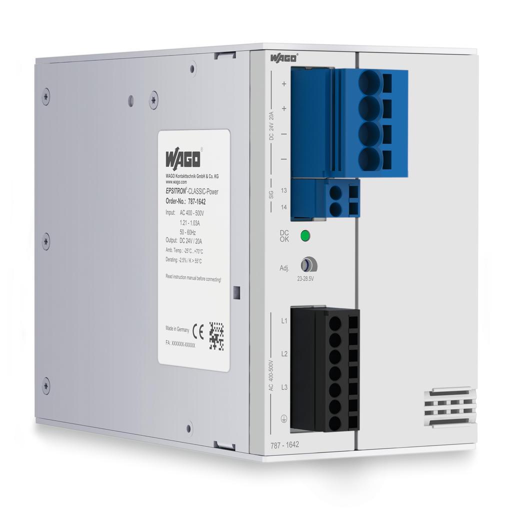 Primär getaktete Stromversorgung; EPSITRON® CLASSIC Power; 3-phasig;  Ausgangsspannung DC 24