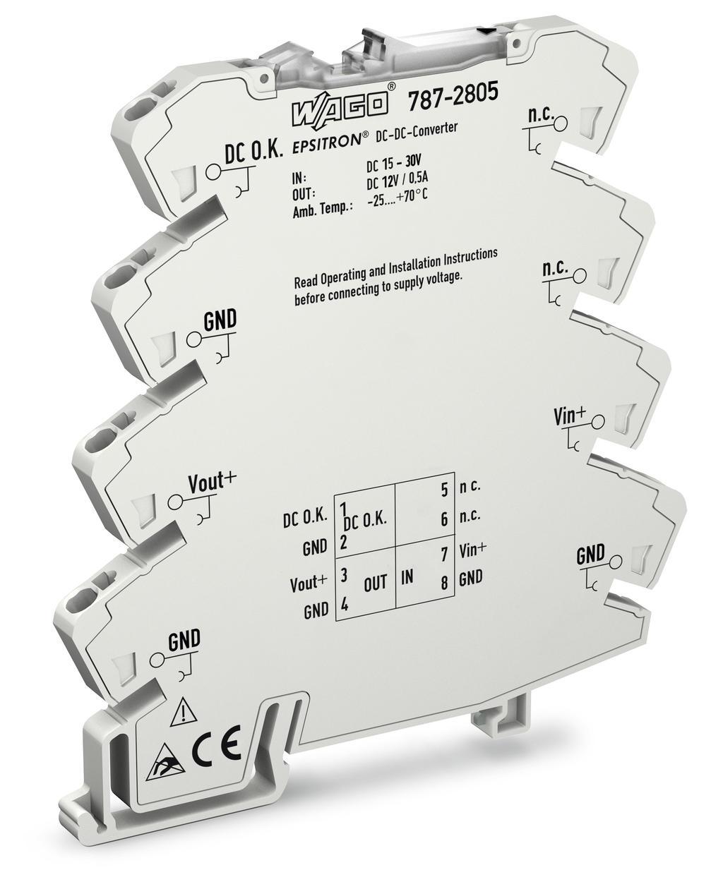 Wago Dc Converter 787 2805 0 30v Power Supply Circuit Diagram Input Voltage 24 Vdc Output 12 05 A