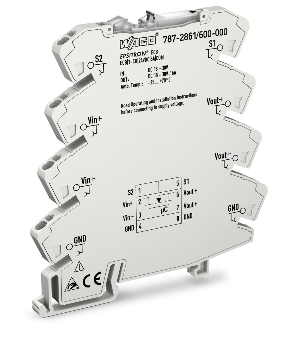 Electronic circuit breaker; EPSITRON®; 1-channel; 24 VDC; 6 A;  communication capability