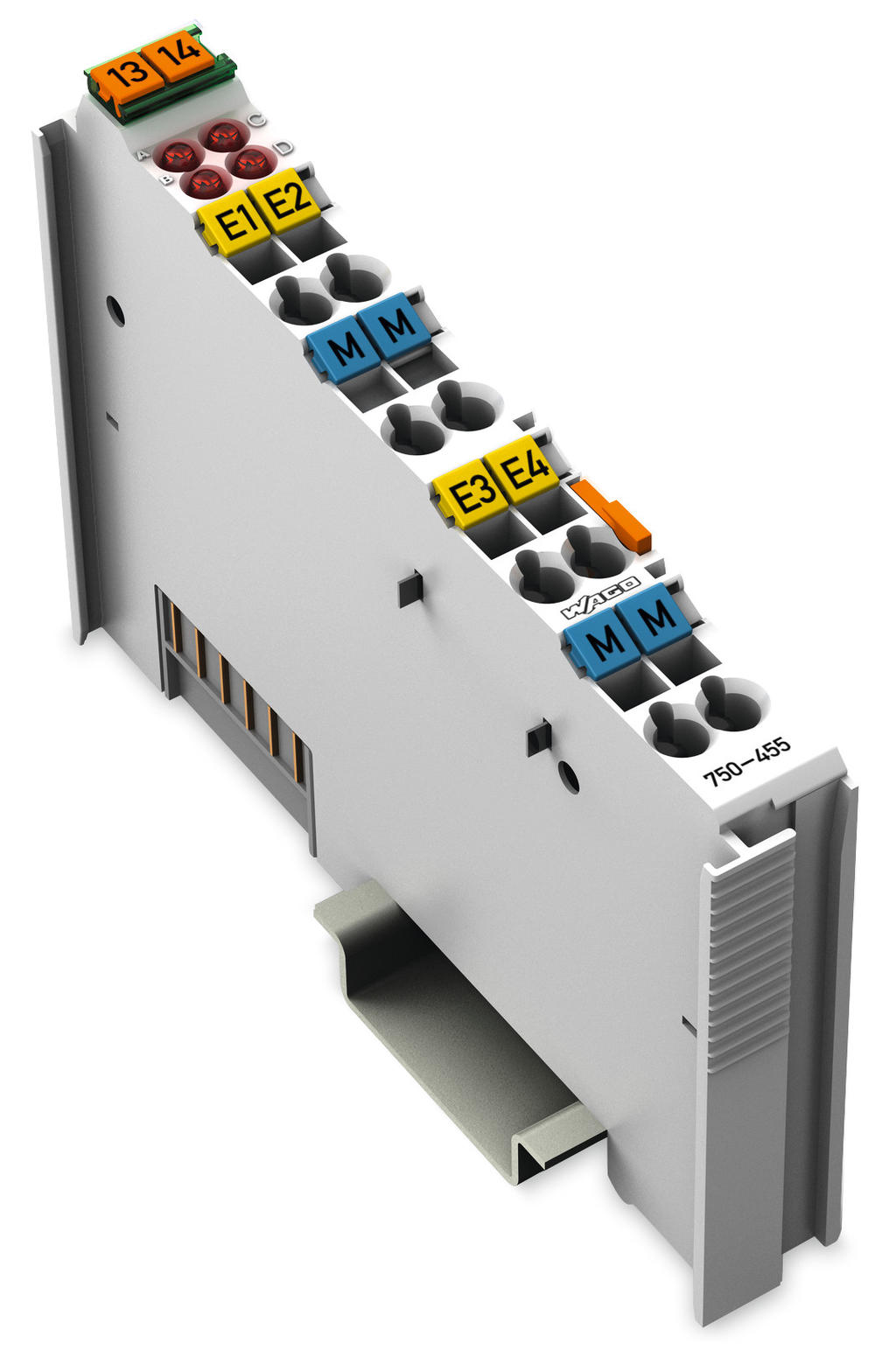 Wago 4 Channel Analog Input 750 455 Control Box Panel Main Power Diagram Plc Sheet Wiring 2 To Conductor Connection Single Ended