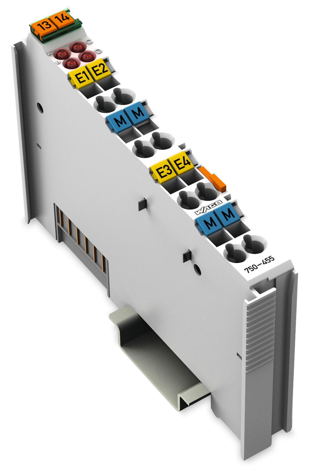 WAGO   4-channel analog input (750-455)