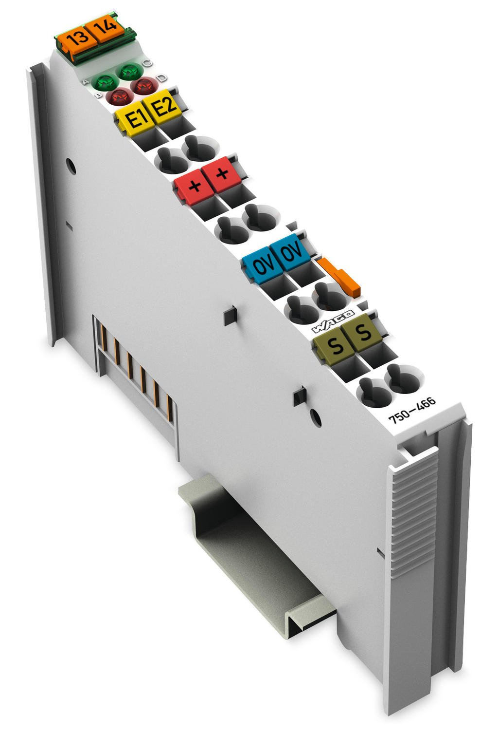 Wago 2 Channel Analog Input 750 466 Electrical Wiring Channels To 4 Conductor Connection Single Ended