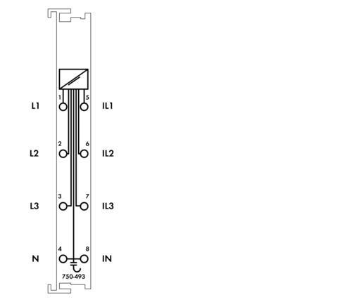 WAGO   3-Phasen-Leistungsmessung (750-493/025-000)