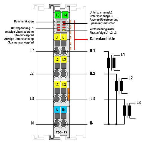 WAGO | 3-Phasen-Leistungsmessung (750-493/025-000)