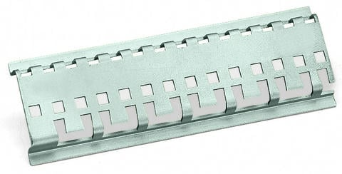 Carrier rail; special perforations; 1000 mm long; tin-plated