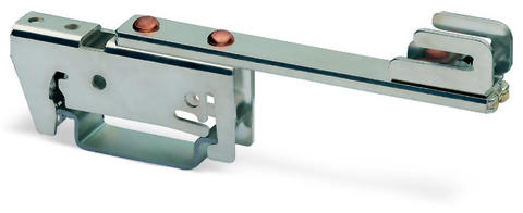 Busbar carrier; 70 mm wide; 24 mm high; single side, straight; for DIN 35 rail