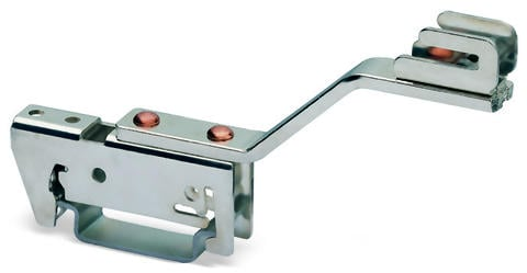 Busbar carrier; 70 mm wide; 45 mm high; single side, angled; for DIN 35 rail