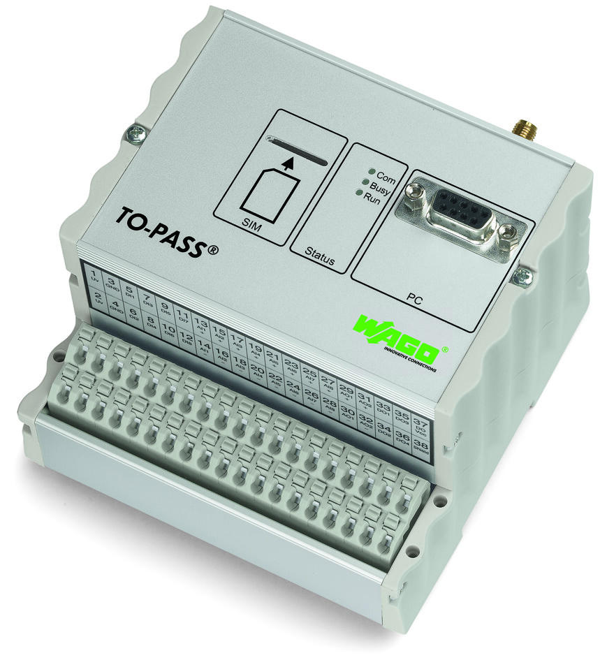 TO-PASS® Compact; 4-channel digital input; Fault indicator; Telecontrol