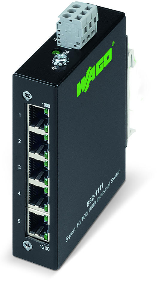 Industrial unmanaged ECO switch; 5-Port 1000Base-T