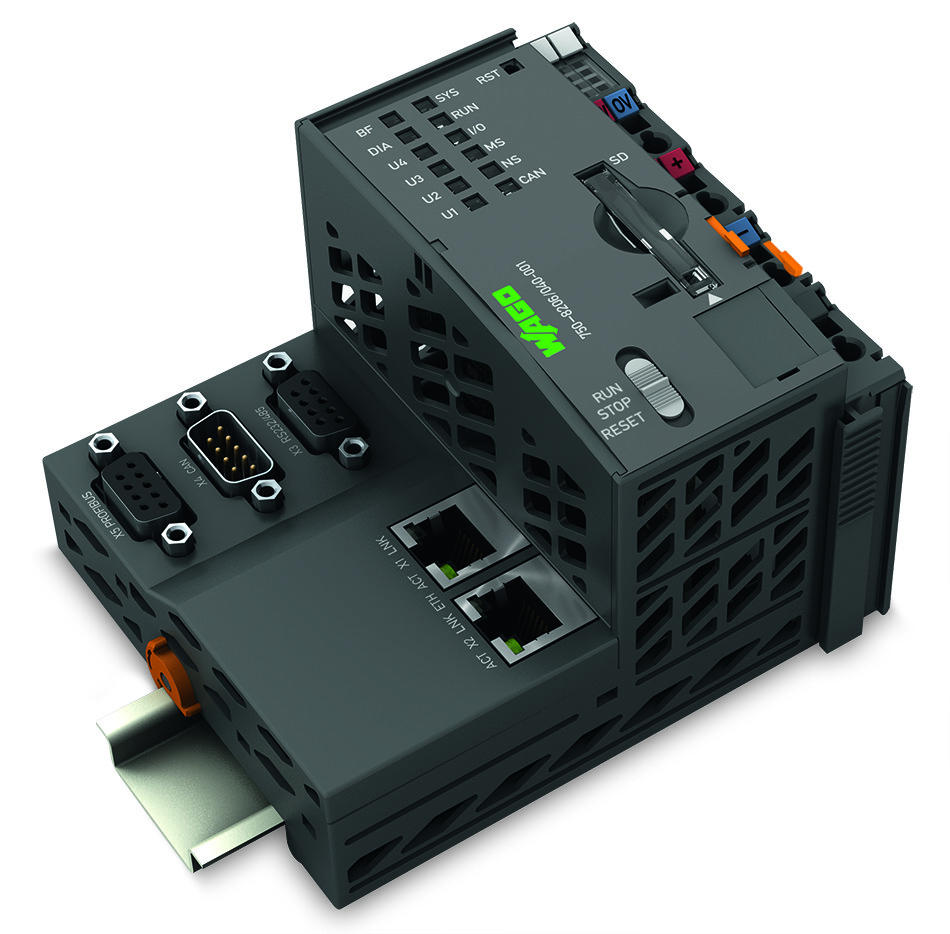 Controller PFC200; 2 x ETHERNET, RS-232/-485, CAN, CANopen, PROFIBUS Slave; Telecontrol technology; Extreme