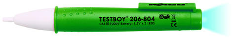 Testboy; with integrated flashlight; non-contact voltage tester