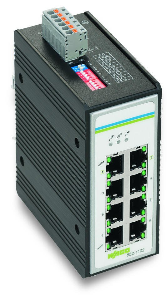 Industrial unmanaged switch; 8-Port 1000Base-T