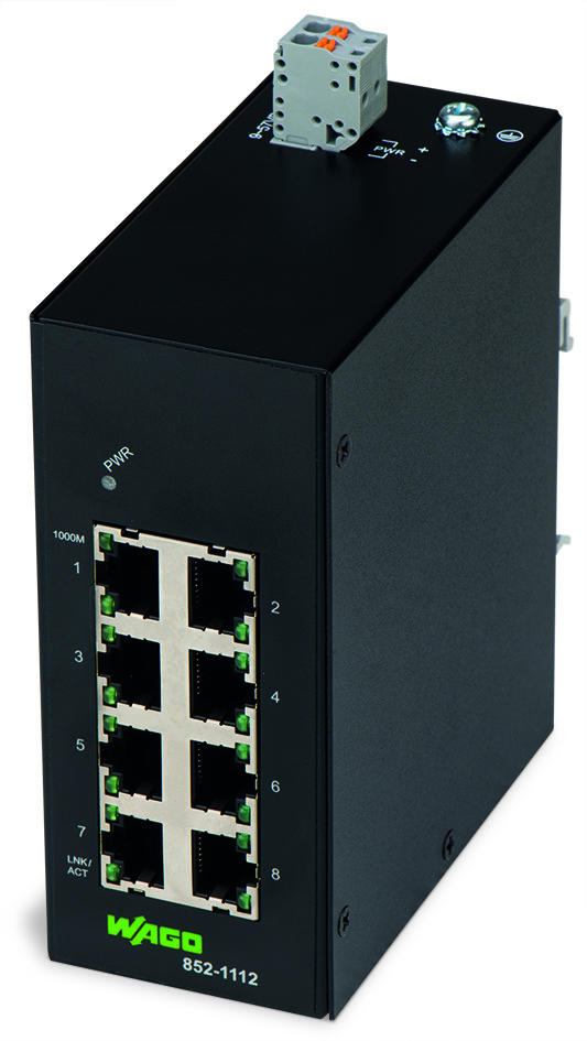 Industrial-ECO-Switch; 8-Port 1000BASE-T; black
