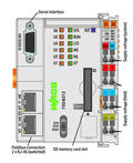 Controller PFC200; 2nd Generation; 2 x ETHERNET, RS-232/-485; Telecontrol technology; Ext. Temperature; light gray